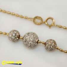18ct Two Toned Gold Necklace with 1.00 Carat of Brilliant Cut Diamonds (39.1cm)