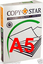 500 SHEETS of 80 gsm A5 EXTRA WHITE PRINTER / COPIER PAPER - BEST VALUE