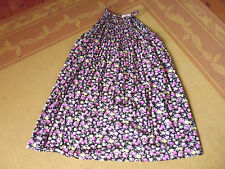 LADIES CUTE BLACK & PINK FLORAL SLEEVELESS TOP/ DRESS BY SUPRE SIZE S 10/12