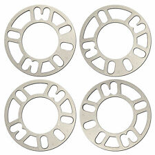 4 X 5MM ALLOY WHEEL SPACERS SHIMS SPACER CAR UNIVERSAL 4 AND 5 STUD FIT