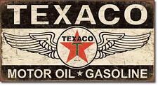 Texaco USA Tankstellen Metall Werbung Schild - Oel und Benzin