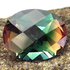 PEACOCK BLUE GREEN-ORANGE PINK OREGON SUNSTONE 3.0Ct FLAWLESS-BEST COLORS-RARE!!