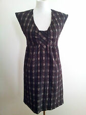 Graphic Checks! Rodeo Show size 8 brown check dress in excellent condition