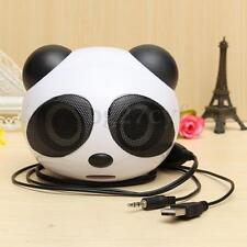 Mini Portable Panda 3.5mm USB Audio Stereo Speaker Subwoofer for Desktop Laptop