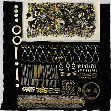 Black Beads and Findings Kit for Jewellery Making