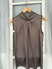 Lovely •David Lawrence• Grey Funnel Neck Top Blouse Sz 8 S EUC