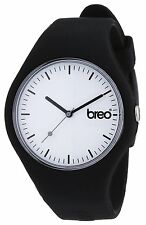 Breo Classic Unisex Sports Watch Black Silicone Band
