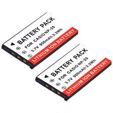 Two Quality NP-20 battery for Casio Exilim Zoom EX-Z11 EX-Z12 EX-Z3 EX-Z4 EX-Z5