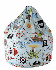 Child Size Blue Pirate Island Beach Bean Bag With Beans By Bean Lazy