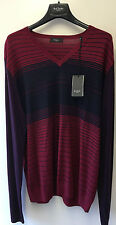 "Paul Smith LONDON V Neck Pullover Merino Wool XXL Pit to Pit 23"" RRP £190"