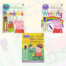 Peppa Pig's Wipe Clean Collection 3 Books Set Writing,Numbers,Activity Book