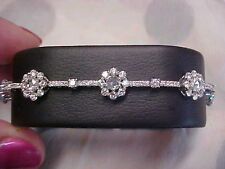 *ANTIQUE*RARE*PLATINUM*4.72ctw ROSE CUT NATURAL DIAMOND TENNIS BRACELET MUST SEE