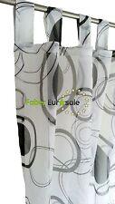 Schlaufenschal Vorhang Design transparent Dekoschal Gardine