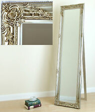 """Portland Cheval Shabby Chic Free Standing Roccoco Long Mirror Champagne 17""""x66"""""""