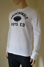 NEW Abercrombie & Fitch Cobble Hill Long Sleeve White Tee T-Shirt XL RRP £50