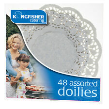48 Pack Assorted White Paper Doilies - Catering Party Table Decoration