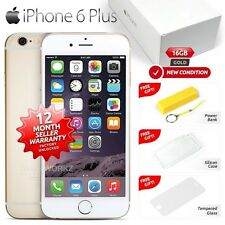 New Sealed Box Factory Unlocked APPLE iPhone 6 Plus + Gold 16GB 4G Smartphone