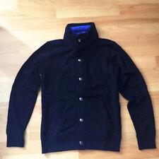 Men's New Zip Top Jacket Coat Jumper Fleece Casual Sports Collar Sweater Size S