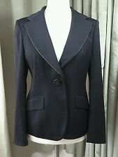 Jaeger Black Wool Blend Jacket - Size 12 EXCELLENT CONDITION