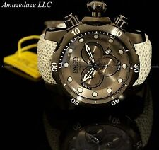 NEW Invicta Reserve Venom Swiss Made Chronograph Stainless Steel Leather Watch !