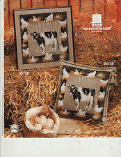 Cow Chickens Hens Nest Oehlenschlager Cross Stitch Chart