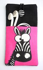 Handyhülle Tasche Cover Case Etui Smartphone Samsung Galaxy S5, S6 ZEBRA pink