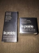La Prairie Cellular Radiance Cream and Emulsion. Two items 7ml & 5ml