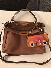 Original FENDI Peekaboo Tasche Bag Sac Tasche Leder Handtasche Guter Zustand