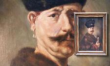 """Bildnis eines vornehmen Polen.  Antikes Ölgemälde monogrammiert """" TO 1915 """""""