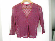 PRIVILEGE AUSTRALIA KNITTED MESH CARDIGAN SIZE 8