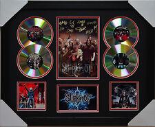 SLIPKNOT MEMORABILIA FRAMED SIGNED LIMITED EDITION 4CD.
