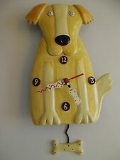 Allen Design Wanduhr Golden Paw Clock