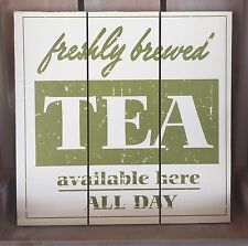 Shabby Wooden Wall Plaque/Chic Vintage Hanging Kitchen Tea Sign *Special Offer*