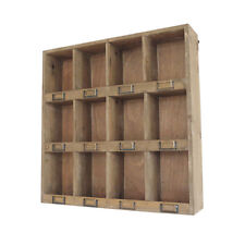 Wall Cabinet 12 Pigeon Holes Storage Shelves Home Decor Display Filing Cabinets