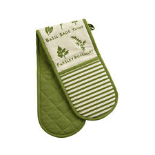 Kendal Green Extra Thick Double Padded Cotton Heat Resistant Oven Kitchen Gloves