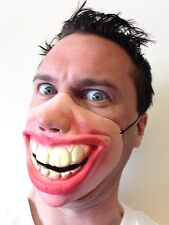 Funny Half Face Big Teeth Smile Grin Mask Masks Adult Child's Fancy Stag Party