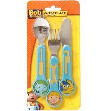 Bob The Builder Cutlery Set Spoon Knife Fork Children Dinner 3pcs #20907 Trendy