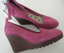 """Paul Smith Women's """"DUSKY PINK"""" Suede Leather Wedges Size UK4 EU37"""