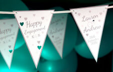 3M PERSONALISED QUALITY SILVER ENGAGEMENT BUNTING BANNERS PARTY DECORATIONS