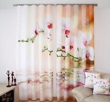 Gardinen -Set 320x245cm Orchideen modern 3D Effekt Schals Vorhang Raumteiler 882