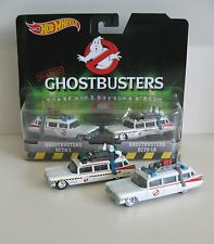 GHOSTBUSTERS Cadillac ECTO 1 + 1A Film Doppel-SET *RR* Hot Wheels USA 1:64 OVP