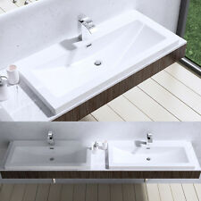 Durovin Rectangle Bathroom Mineral Cast Solid Stone Countertop Basin Sink New
