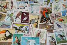 BULK LOT BIRDS THEMED STAMPS X 50  GOOD MIX FREE POSTAGE IN OZ