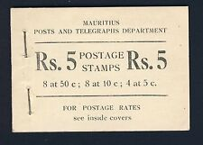 MAURITIUS 1953 Complete Stamp Booklet with Pristine Contents SG SB1 MNH