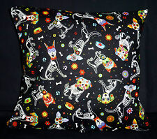 Day of The Dead Dog Skeleton Pillow / Cushion Cover Case