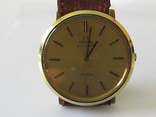 SECONDHAND GENTS GOLD PLATED OMEGA DE VILLE AUTOMATIC WATCH.