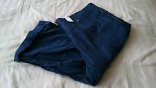 Womens size 22 navy pull up crops, 3/4 length from Evans, bnwt, elasticated back