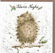 "Country Set Christmas Greeting Card Wrendale Designs  ""Silent Night"" Owl"