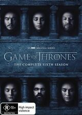 Game Of Thrones : Season 6 (DVD, 5-Disc Set) Brand New Sealed Region 4