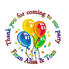 35x Personalised Birthday Balloons inspired Labels Sticker Party sweet cone bags